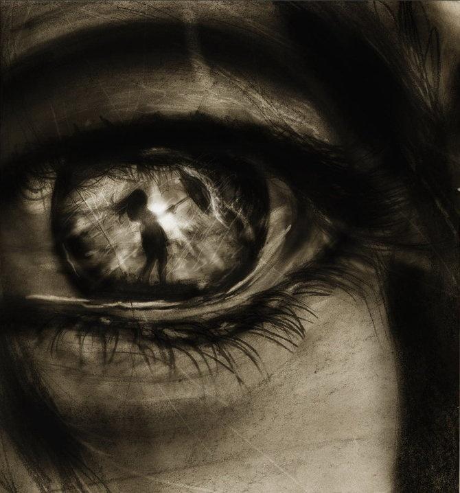 Reflection in eye