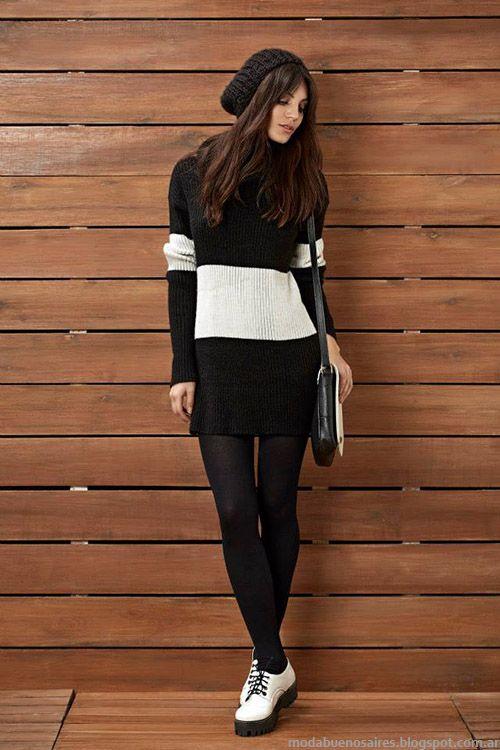 Kevingston Mujer otoño invierno 2015. Moda vestidos tejidos otoño invierno 2015.