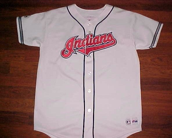 Majestic MLB Central Cleveland Indians Scripted Boys White Baseball Jersey XL #Majestic #ClevelandIndians