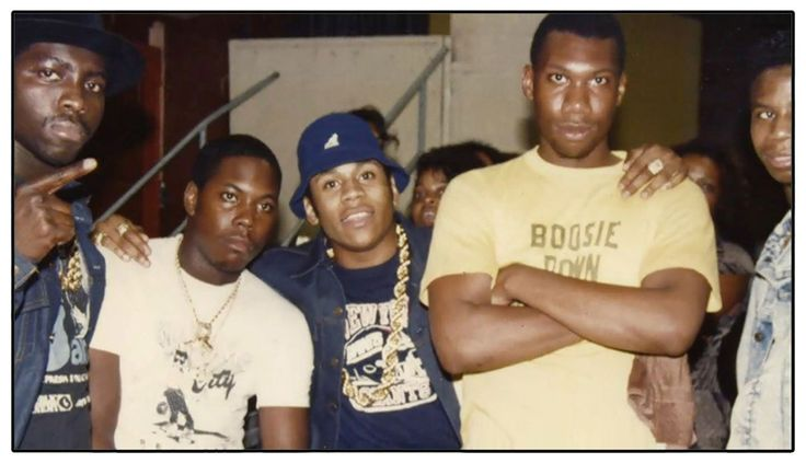 Left to Right: E-love, Scott la Rock, LL Cool J, Krs-One, Doug E Fresh.