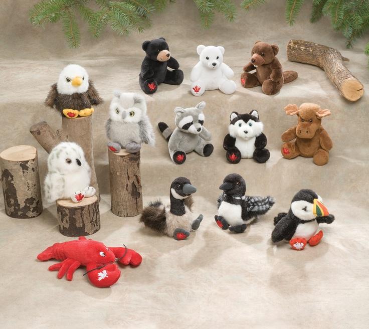 Cute Way To Display Stuffed Animals In A Nursery (on Top Of Small Tree Limb