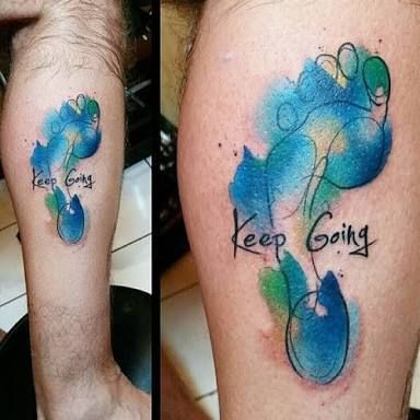 Cool running tattoo ideas images for Why did lou leave tattoo fixers
