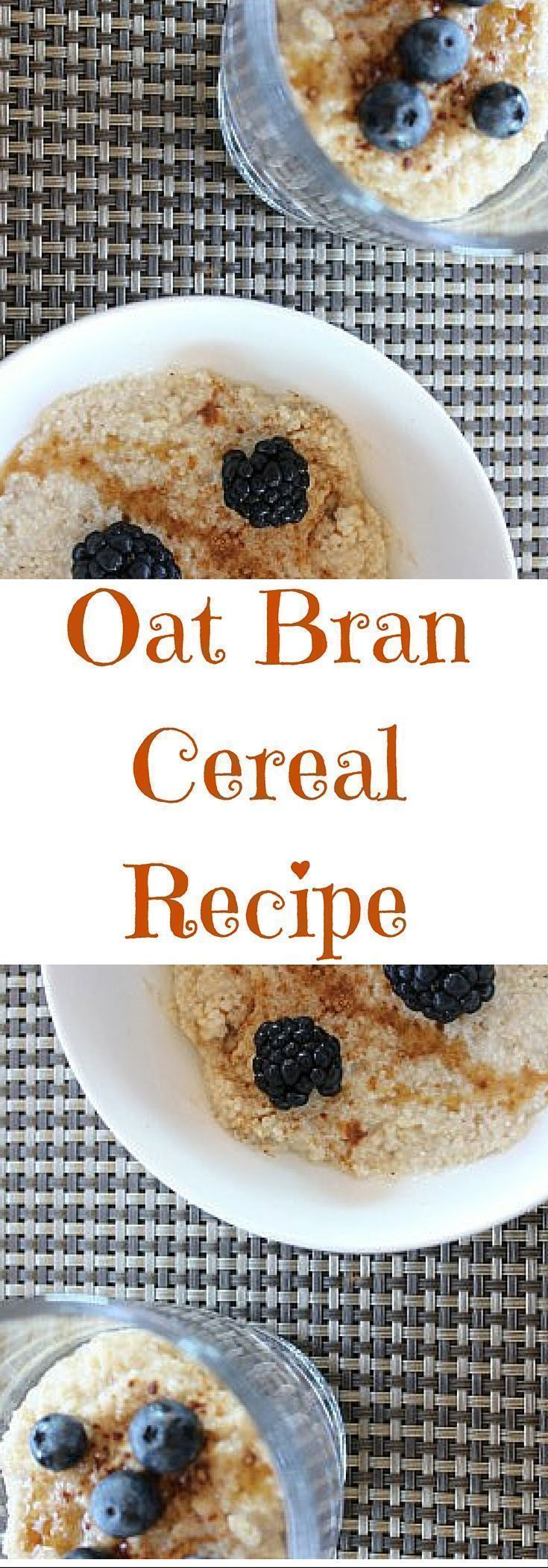 This oat bran cereal recipe is tasty and delicious for breakfast. Easy breakfast recipe. Click here for this recipe or pin to save for later.