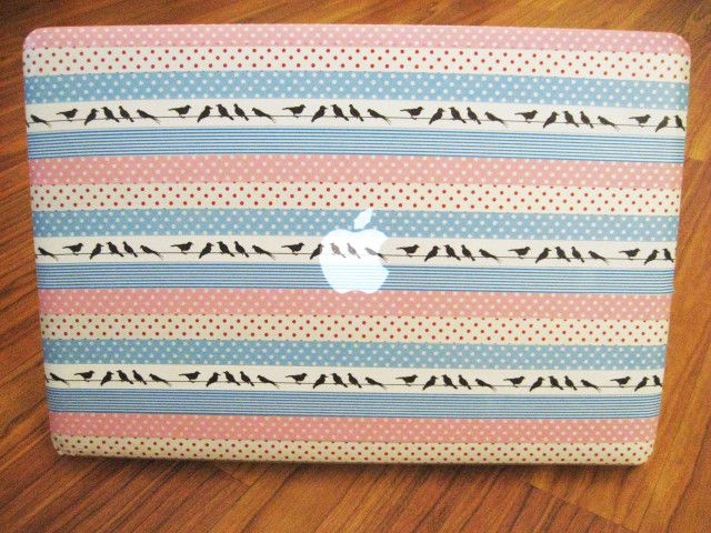 Washi Tape Laptop Cover