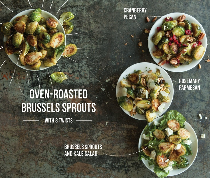 Oven-Roasted Brussels Sprouts are sooooo simple.... and then you can add other ingredients to mix it up a bit! #recipe #holiday #Thanksgiving