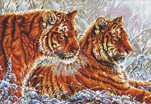 Набор для вышивания Hobby&Pro S-049 Тигры