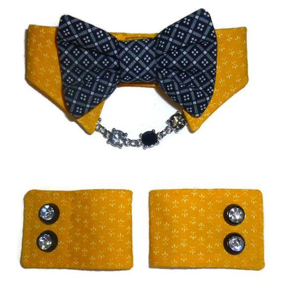 Dog Shirt Collar & Dog Cuff Pattern 1527  XXSmall to XXLarge