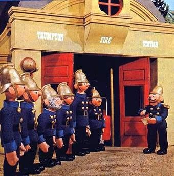 Trumpton. Pugh, Pugh, Barney McGrew, Cuthbert, Dibble & Grub....my dad use to love this too!