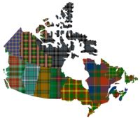 canada tartan  | All the official tartans of Canada's provinces and territories sewn ...