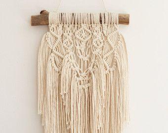 SALE / Textured Macrame Wall Hanging / by WallHuggerHandmade