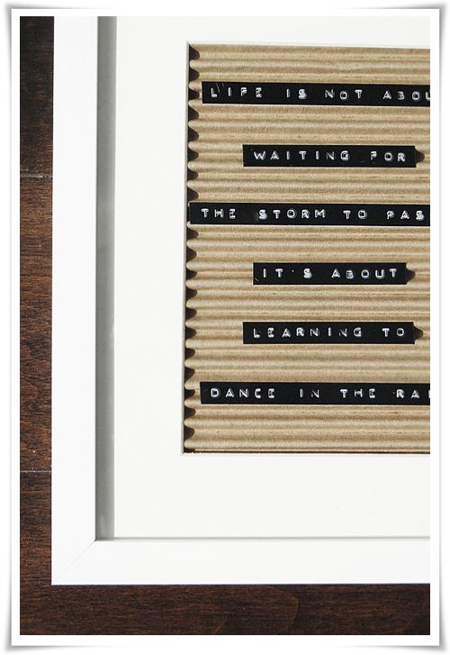 DIY | Stylizimo Blog | Framed Quote