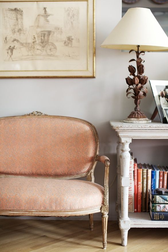 if keep existing dining room chairs and re-upholster, consider a settee/bench like this along right wall?