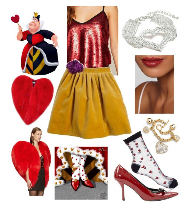 """My Style: Queen of Hearts Theme"" by hellenrose7292 on Polyvore featuring Miss Selfridge, Prada, Palm Beach Jewelry, Yves Saint Laurent and Venus"