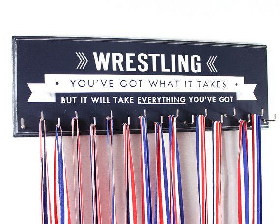 Wrestling-Medaille Halter Rack Display wrestling Schule Sport