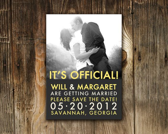 Cool  Beautiful Wedding Save The Date Ideas A Little Bit of Everything