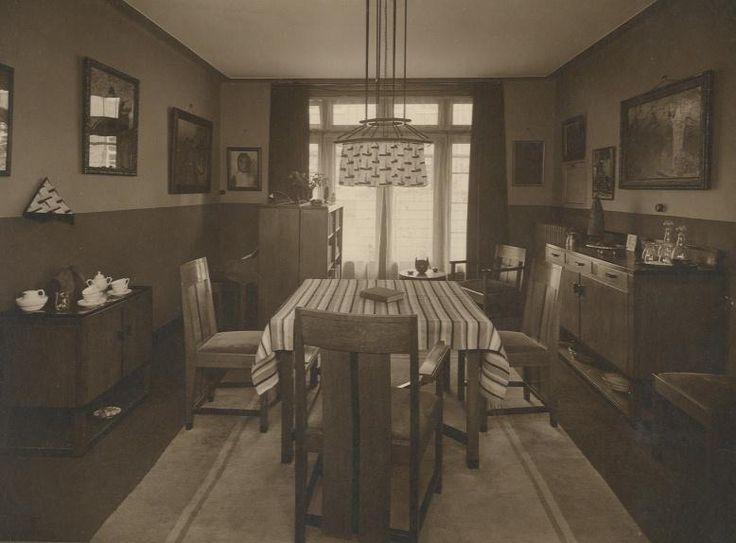 Huiskamer interieur eind jaren twintig jaren 20 jaren 30 amsterdamse school pinterest - Deco gang huis ...