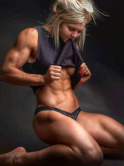 Naked women doing exercise