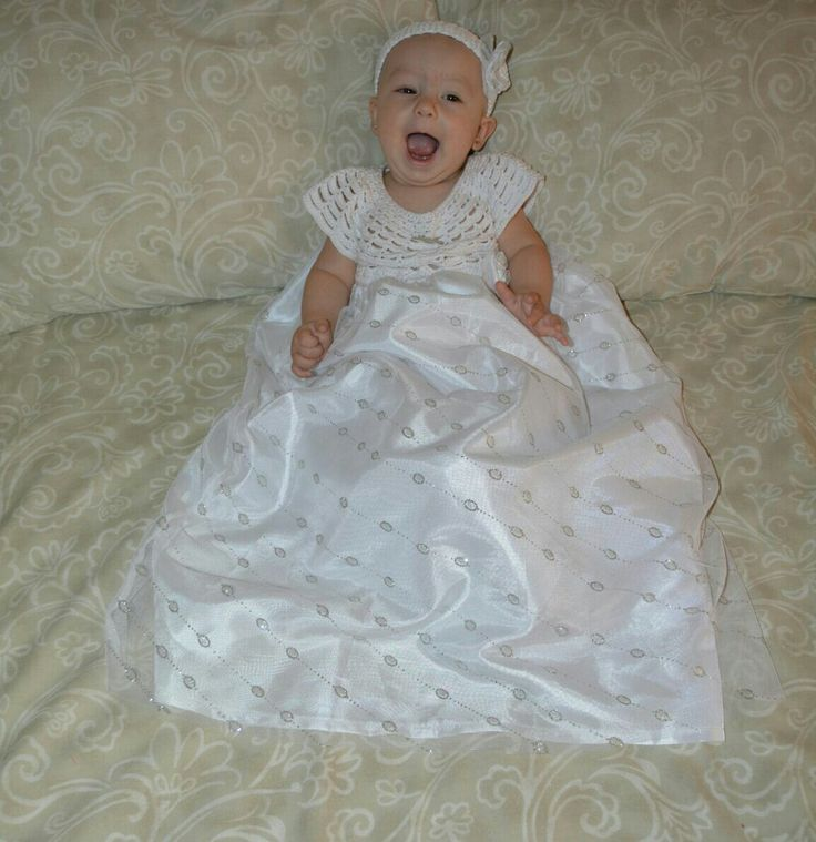 Gita in her baptism dress