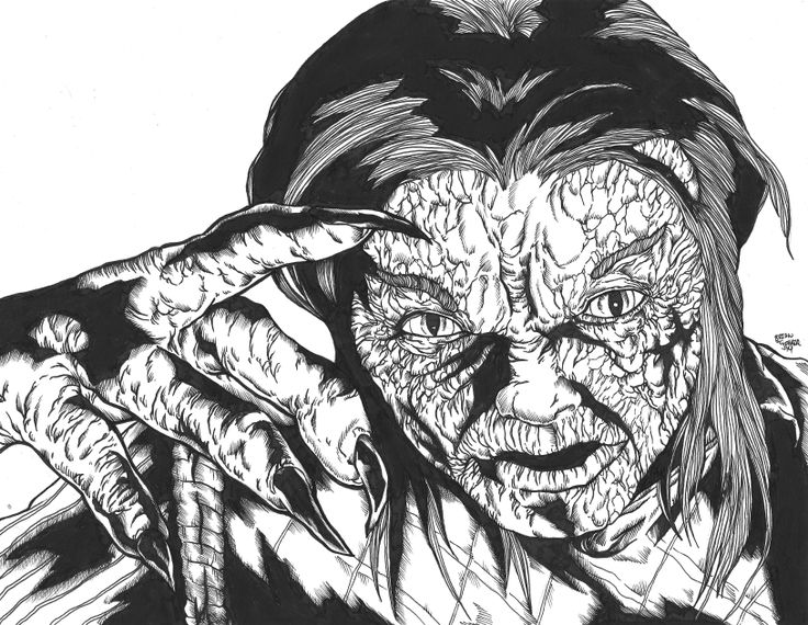 scan of my tribute to the classic 1988 movie 976-Evil piece. Really happy with how this one turned out. First time ever drawing Stephen Geoffreys as Hoax.