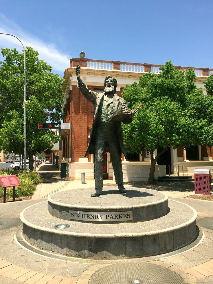 Henry Parkes Statue in Parkes, NSW