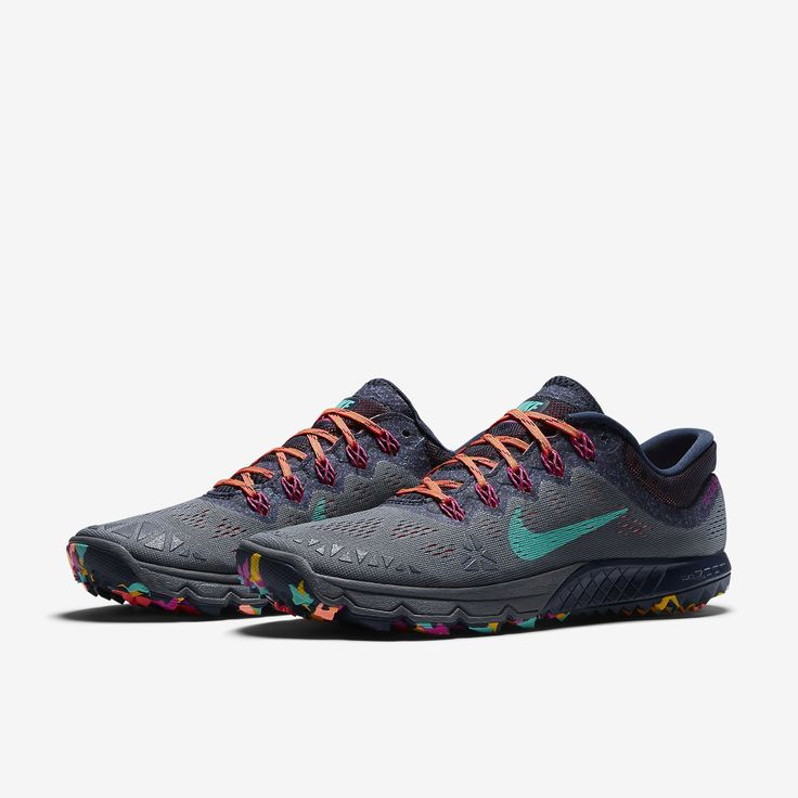 Popular Nike Lunarfly+ 3 Trail - Womens Trail Running Shoes - Grey/Pink/Yellow Online | Sportitude