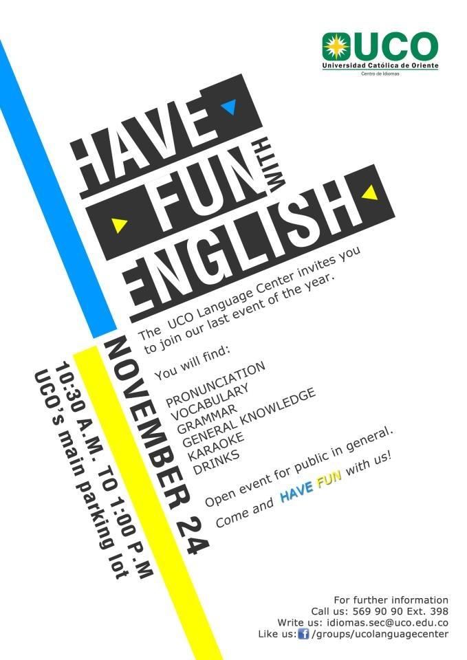 HAVE FUN WITH ENGLISH!
