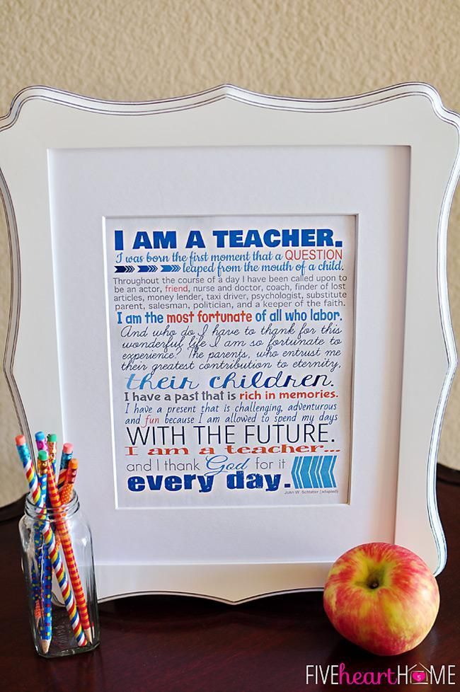 This is an image of Vibrant Printable for Teachers