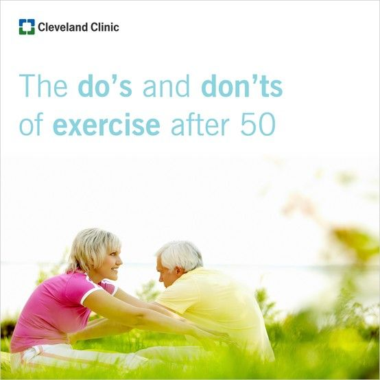 Exercise after 50. Learn the do's and don'ts