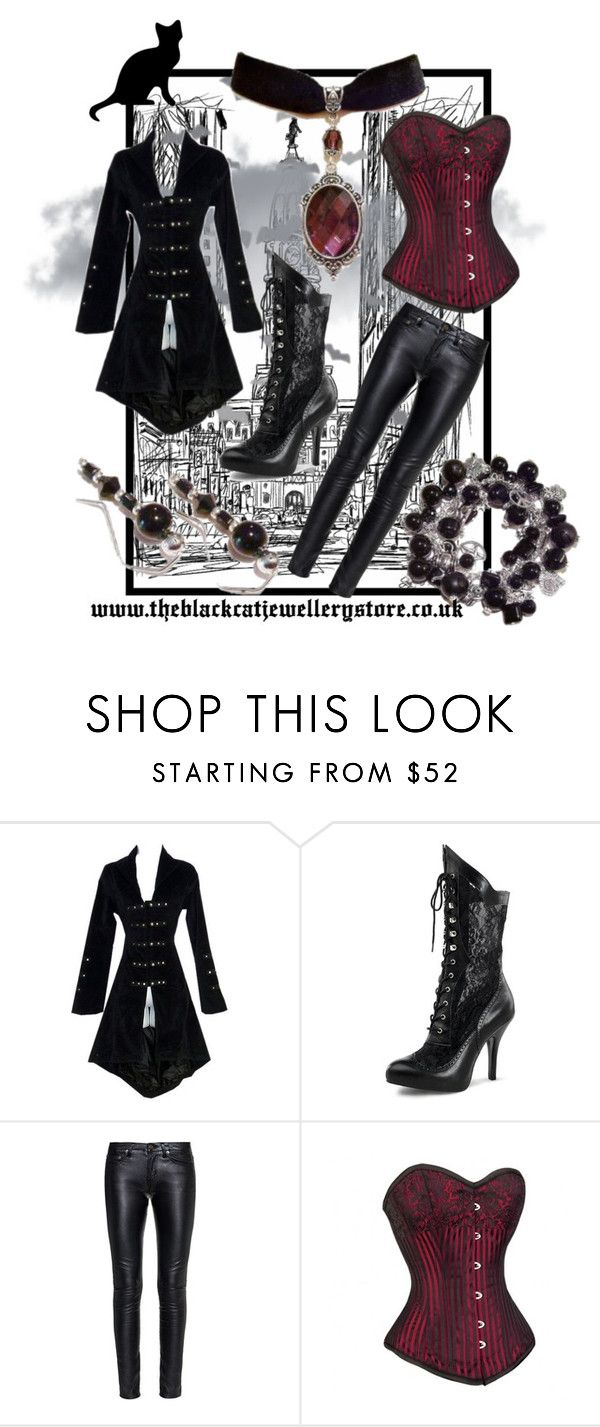 """Vampire Hunter"" by theblackcatjewellerystore ❤ liked on Polyvore featuring Yves Saint Laurent, women's clothing, women's fashion, women, female, woman, misses, juniors, jewelry and gothic"