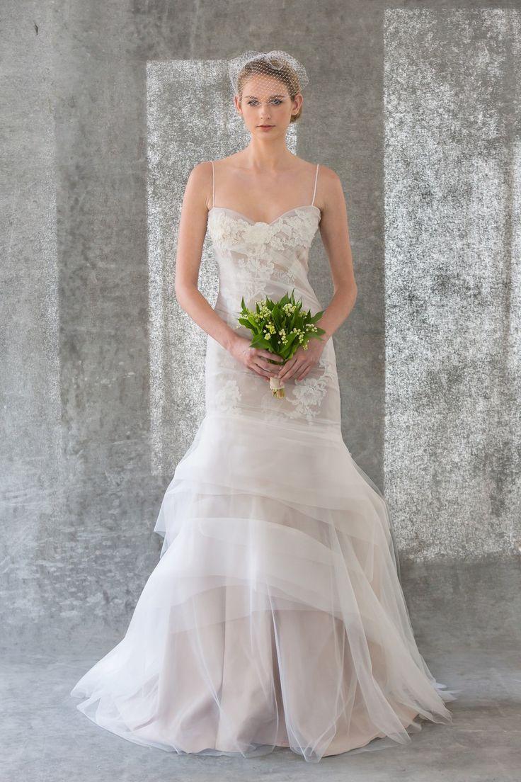 95 best Fitted wedding dresses: tulle/organza/chiffon images on ...