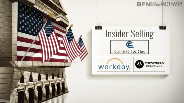 Business Finance News talks about the latest insider selling at Motorola Solutions (MSI), Cabot Oil & Gas Corporation COG) and Workday Inc (WDAY).