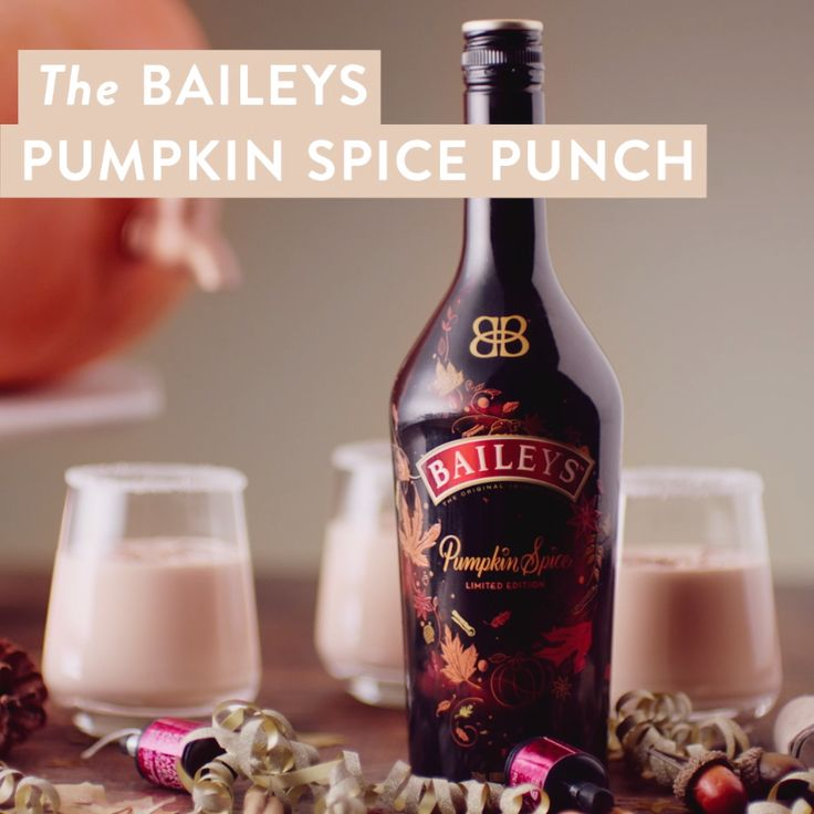 New limited edition Baileys Pumpkin Spice combines the Fall flavors of sweet cinnamon, rich maple, brown sugar, and baked pie crust with hints of vanilla and coffee. If you're hosting a holiday party, this punch recipe can be your go-to drink from Halloween to Thanksgiving! Making Baileys Pumpkin Spice Punch is easy, just follow the recipe above and serve in a hollowed-out pumpkin for a seasonal presentation. Don't forget to rim glasses with sugar for an added treat before serving over ice.