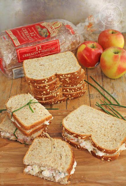 S�ndwich de salm�n ahumado y manzana. Receta paso a paso