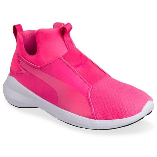 Puma  Women's Rebel Sneakers ($70) ❤ liked on Polyvore featuring shoes, sneakers, pink, puma sneakers, pink shoes, training sneakers, training shoes and puma footwear