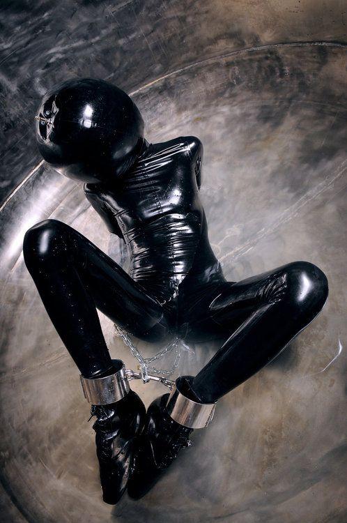 black latex rubber porn - Girl in the bubble
