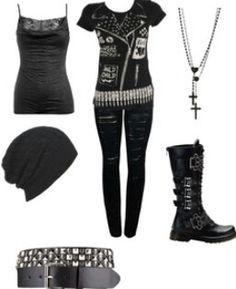 Punk rock style dresses 2018