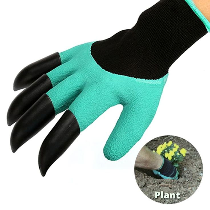 1Pair Garden Gloves For Gardening Digging & Planting with 4 ABS Plastic Claws #1PairChina