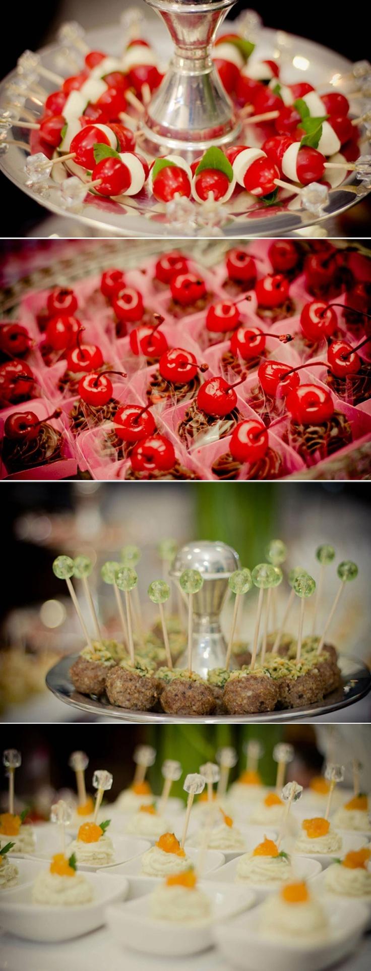 Cute finger foods ideas. Beautiful presentations