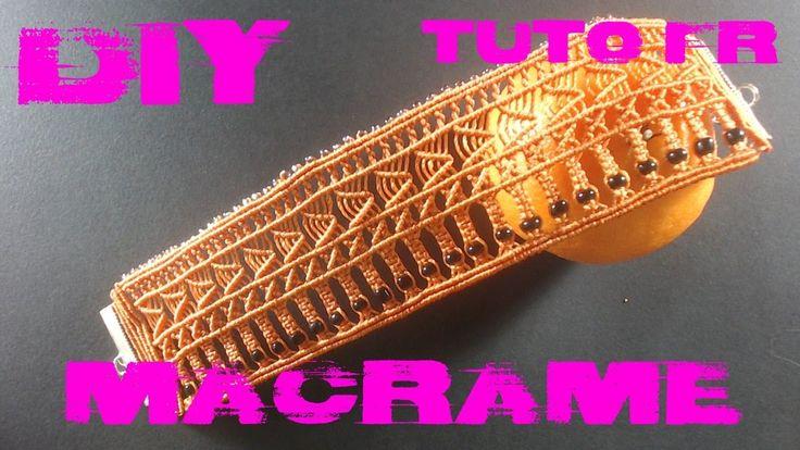 DIY - Tuto Bracelet Orange en Macramé