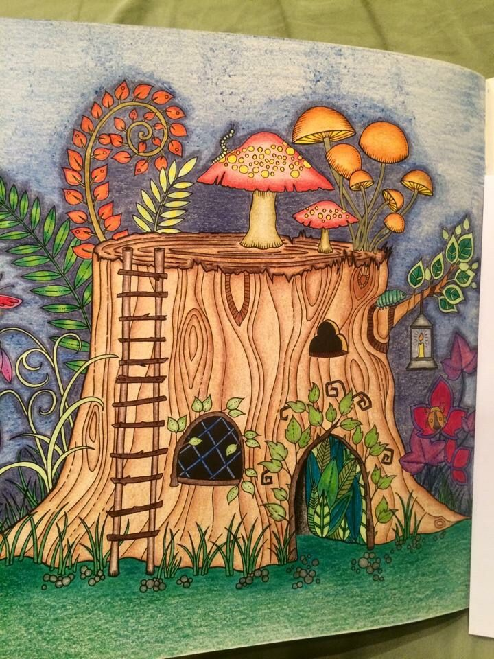 Enchanted Forest Tree House Johanna Basford