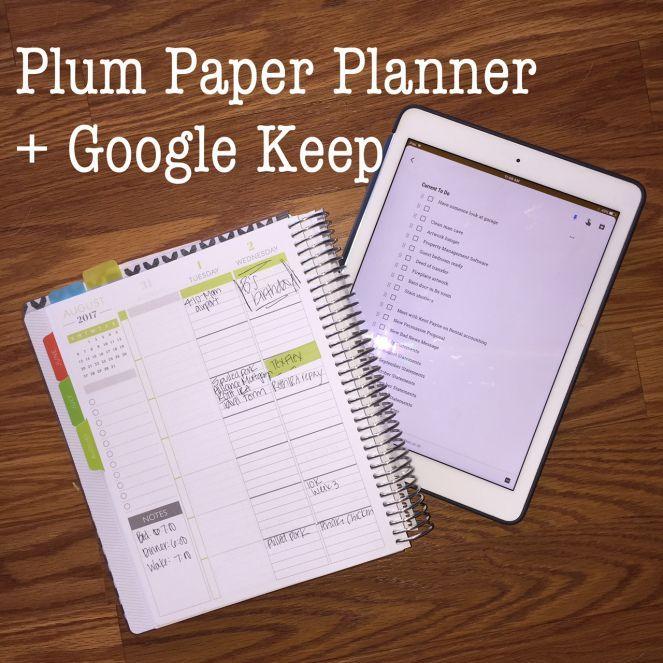 How I Stay Sane: Plum Paper Planner + Google Keep – Texan in Training #girlboss #bestplanner