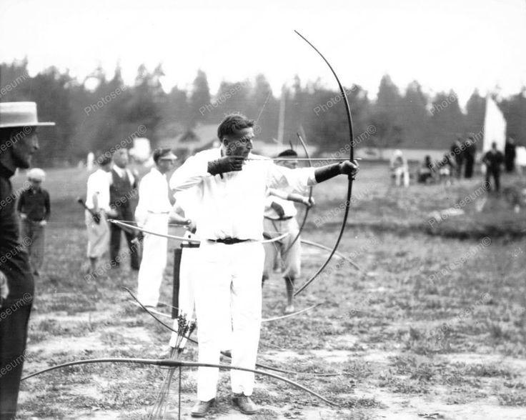 Mens Archery Contest Vintage 8x10 Reprint Of Old Photo 1