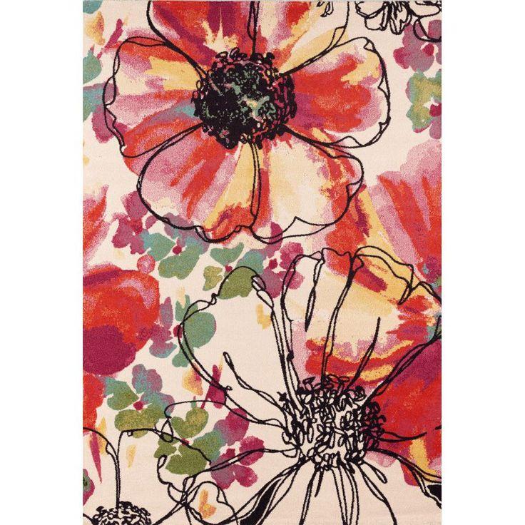 Ковер красочные цветы Capri 32041/6270 #carpet #carpets #rugs #rug #interior #designer #ковер #ковры #дизайн #marqis
