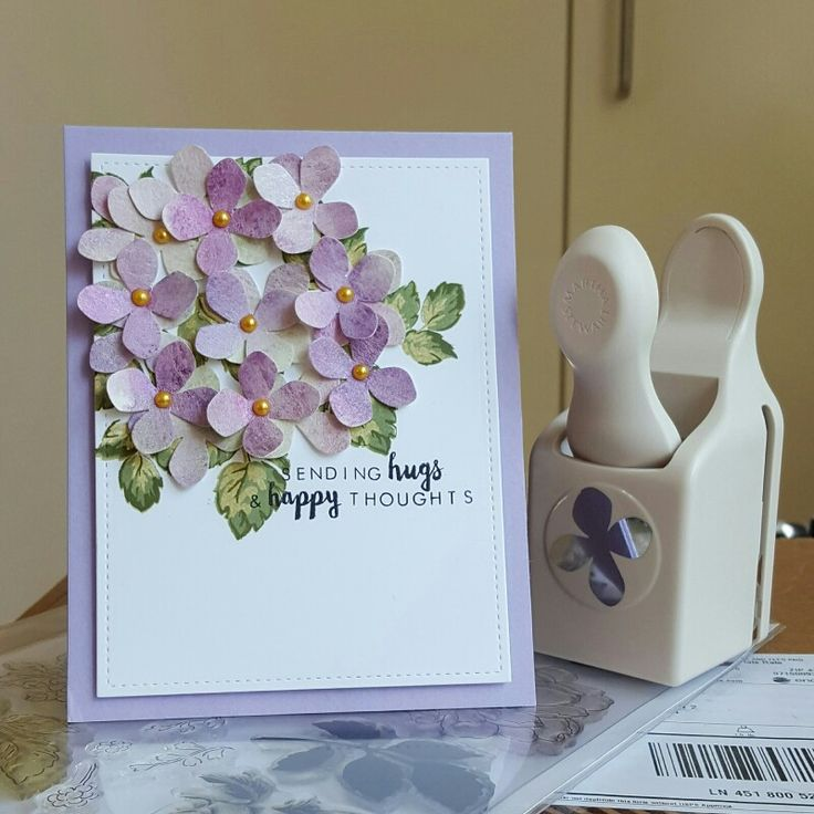 Martha Stewart hydrangea punch, stamps from Altenew