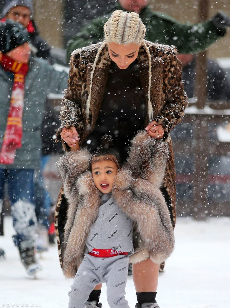 See Kim Kardashian and North West's Sweet Mother-Daughter Ice Skating Date