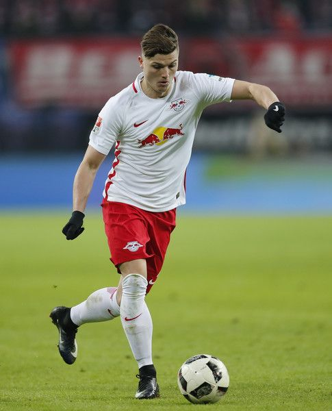 Marcel Sabitzer of RB Leipzig runs with the ball during the Bundesliga match between RB Leipzig and TSG 1899 Hoffenheim at Red Bull Arena on January 28, 2017 in Leipzig, Germany.