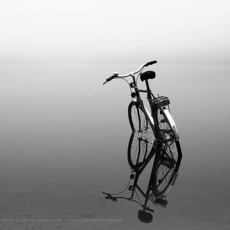 The morning after by Patric Ivan, via 500pxWater, Photos, Bicycles, Black White Photography, Bikes, Negative Space, Lakes, The Way, Mornings