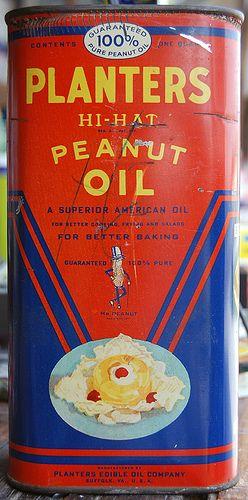 Planters Hi-Hat Peanut Oil, 1940's
