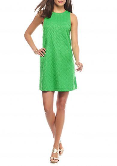 crown & ivy™ Petite Jacquard Swing Dress