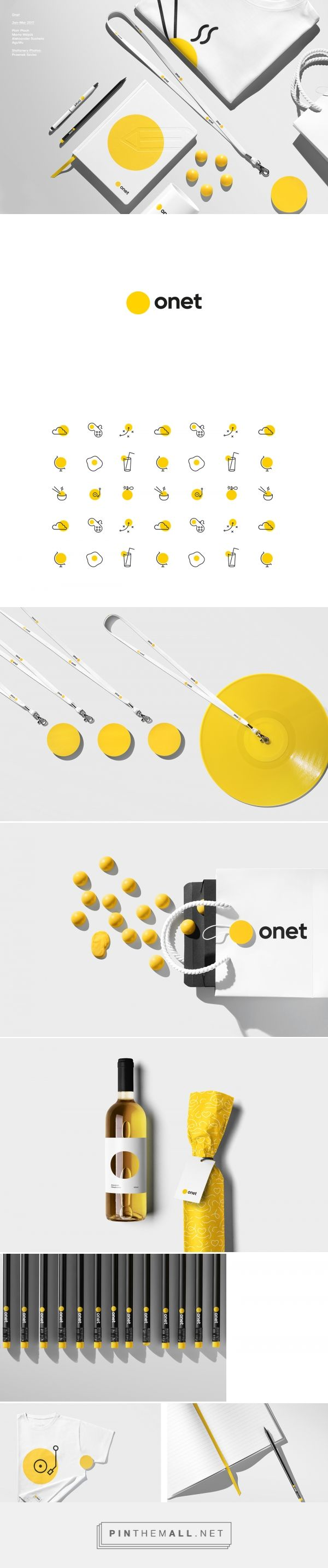 Brand Identity & Graphic Design: Onet - created via https://pinthemall.net